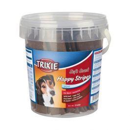 Trixie dog poch. HAPPY stripes hovězí pásky - 500g