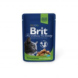 BRIT cat kapsa STERILISED 100g - Kuřecí
