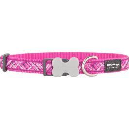 Obojek RD FLANNO hot pink - 1,2/20-32cm