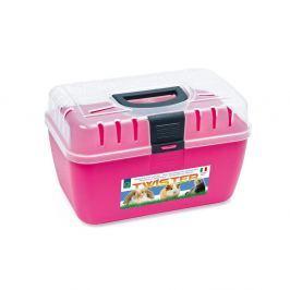 Transportní box ARGI horní otv. růžový - 29 x 19 x 18 cm