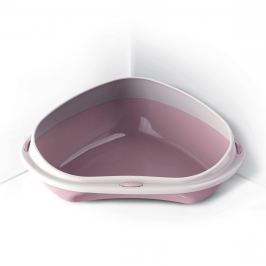 WC ARGI rohové s vys. okrajem růžové - 58 x 48 x 20,5 cm
