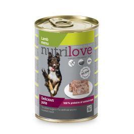 NUTRILOVE pes konz. JEHNĚČÍ/paté - JEHNĚČÍ 400g (při koupi 10ks dostanete 2ks GRATIS)