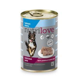 NUTRILOVE pes konz. LOSOS/paté - LOSOS 400g (při koupi 10ks dostanete 2ks GRATIS)