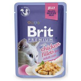 BRIT cat kapsa FILLETS želé 85g - Hovězí (při koupi 4ks dostanete 1ks GRATIS)