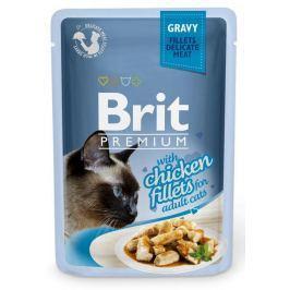 BRIT cat kapsa FILLETS šťáva 85g - Hovězí (při koupi 4ks dostanete 1ks GRATIS)