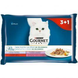 GOURMET PERLE cat 85g kapsa MINI FILETS / zelenina - 4ks