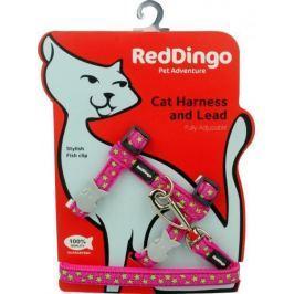 Postroj RD cat s vodítkem LIME - DAISY CHAIN GREEN