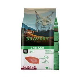 BRAVERY cat STERELIZED chicken - 2 kg