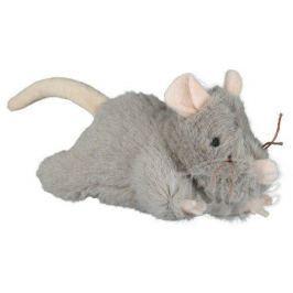 Plyšová myš šedá, robustní - 15 cm