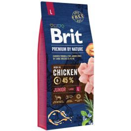 BRIT dog Premium By Nature JUNIOR L - 15 kg