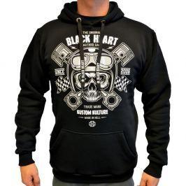 BLACKHEART Piston Skull Hood černá - M