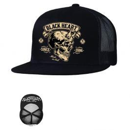 BLACK HEART Devil Skull Trucker černá