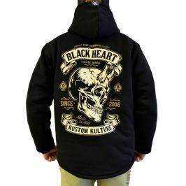 BLACKHEART Devil Skull Lined černá - M